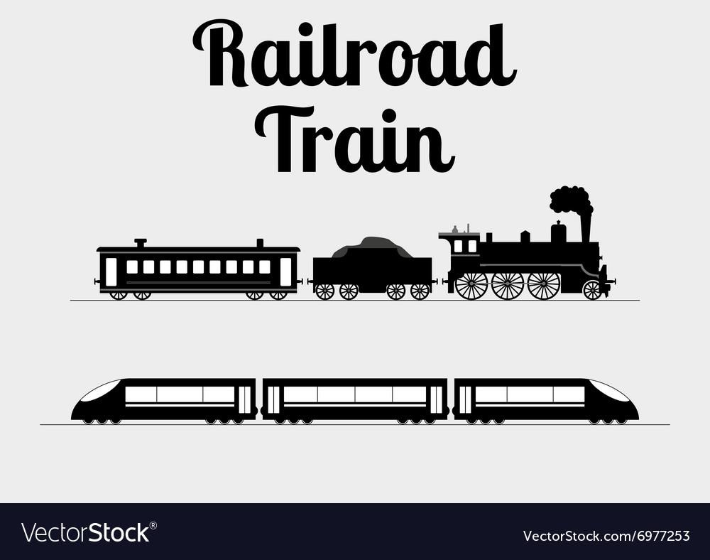 A train vector image