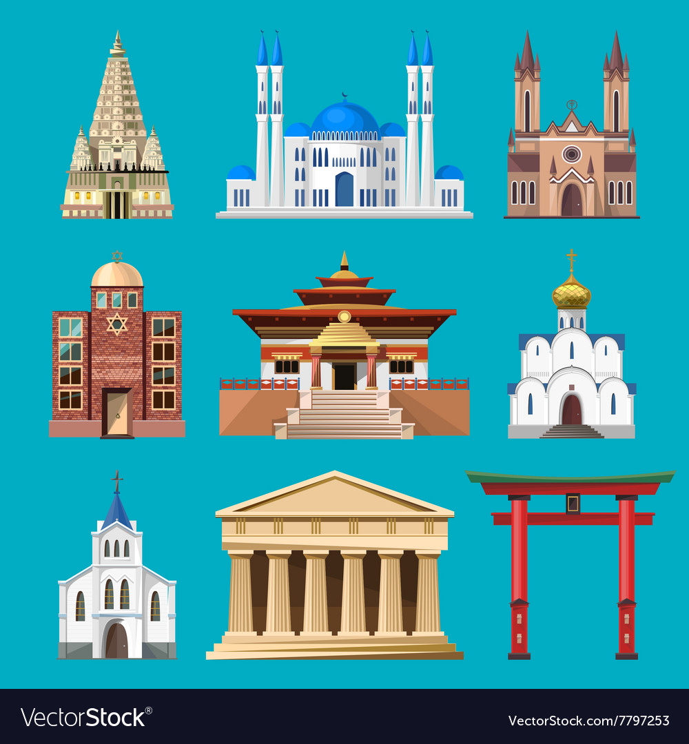 Cathedrals churches and mosques building