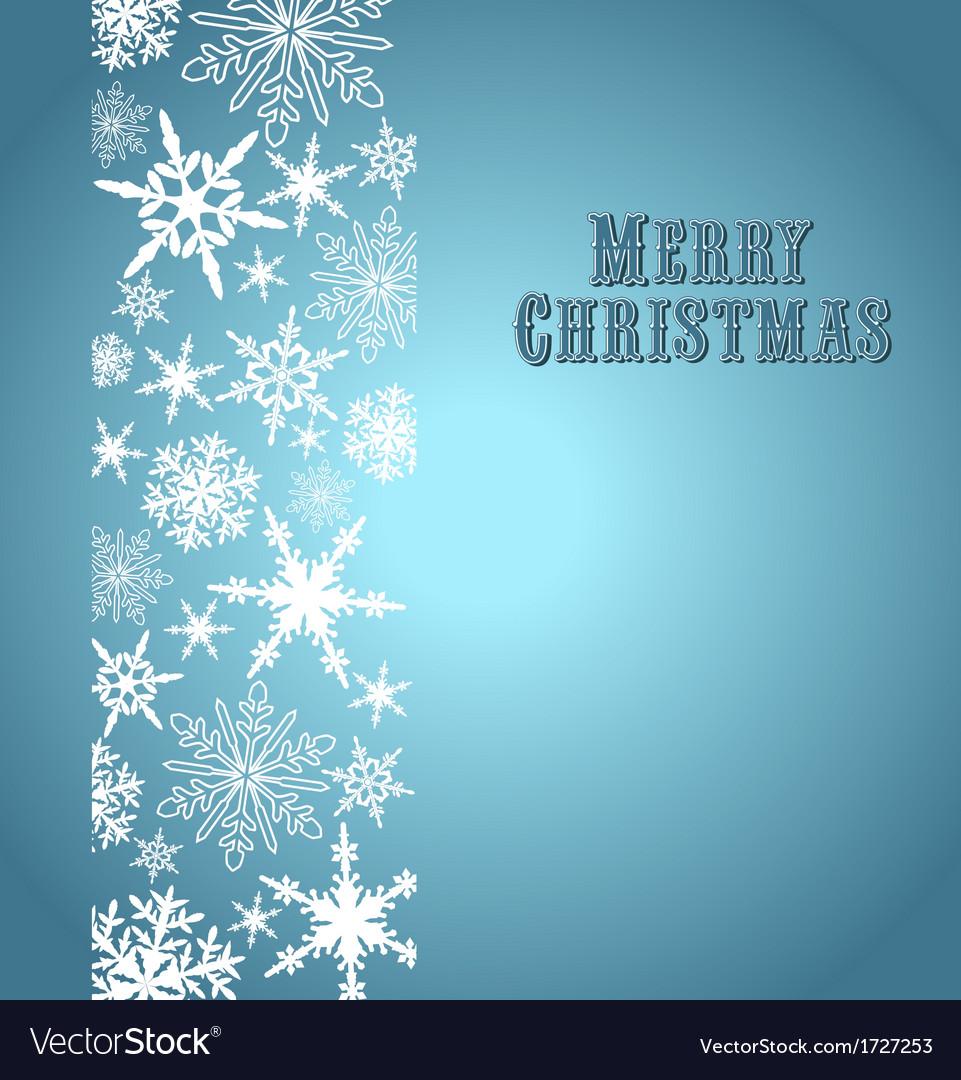 Christmas Snowflake Card Silver Blue
