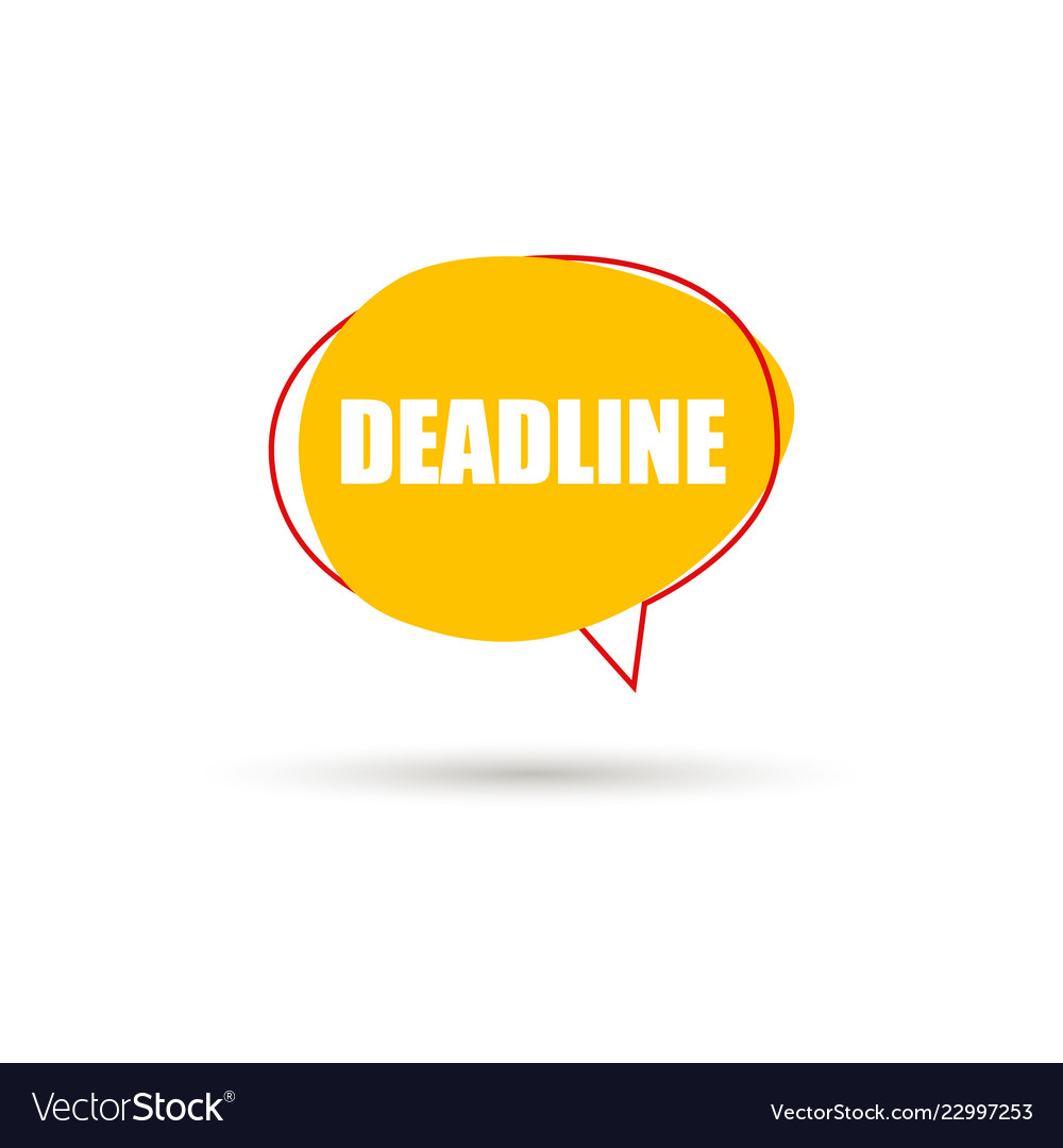 Deadline speech bubble icon
