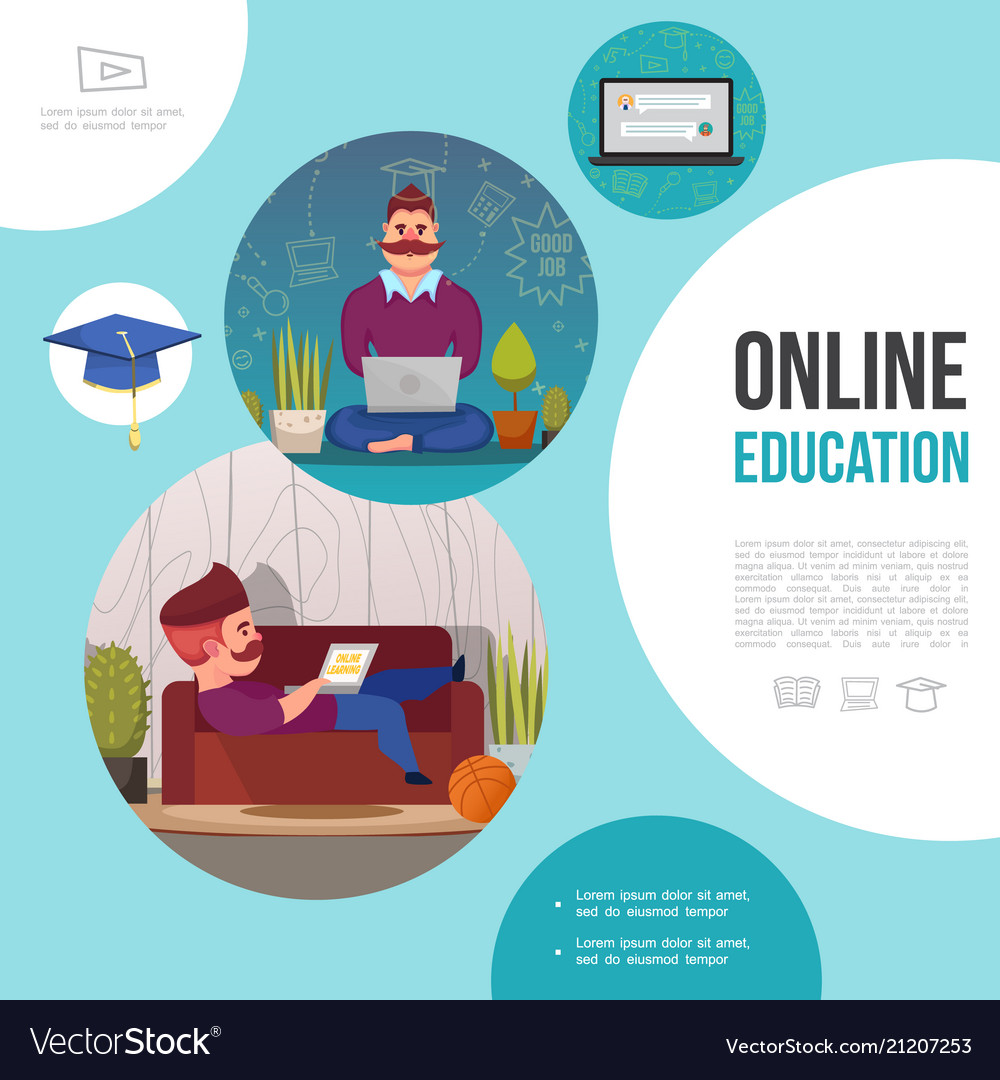 Flat e-learning template