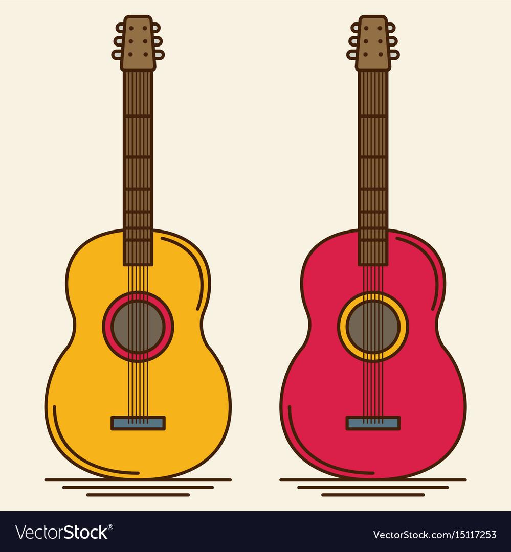 Flat guitar musical instrument flat