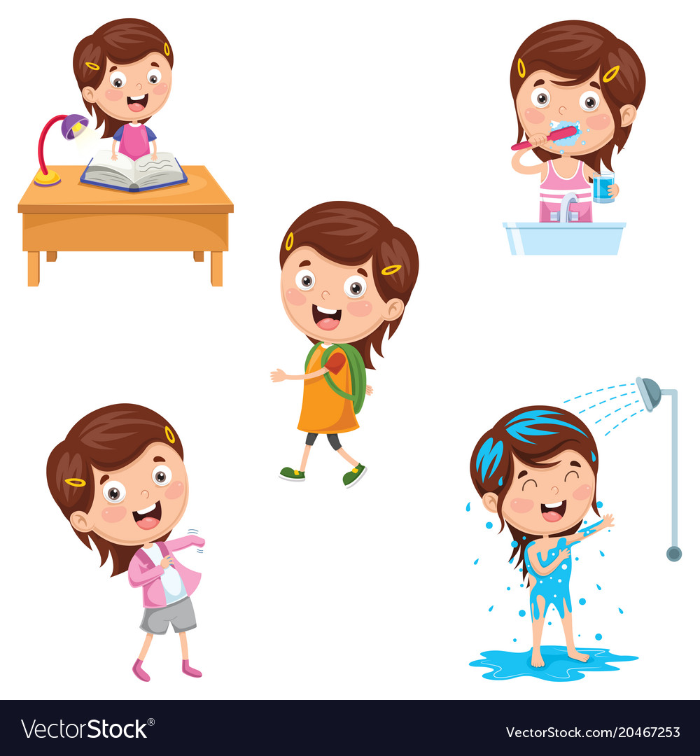 Kids daily routine