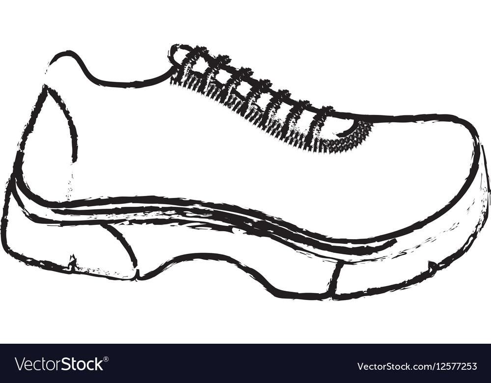 Running Sport Sneaker Royalty Free Vector Image