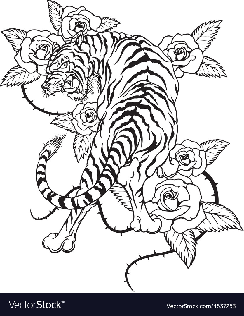 Tiger-tattoo