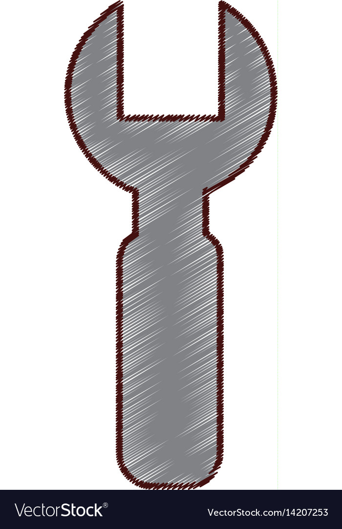 Wrench construction tool icon