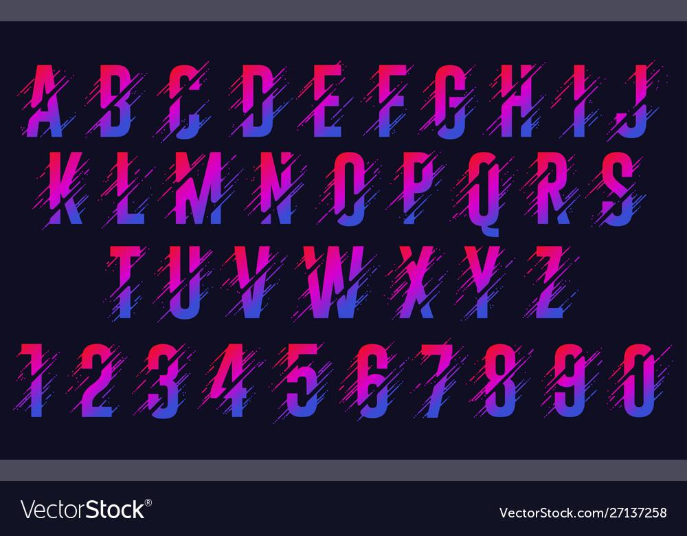 Alphabet letters stylized colorful abc liquid
