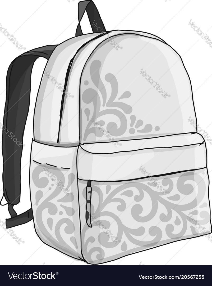 Backpack mockup sketch for your design