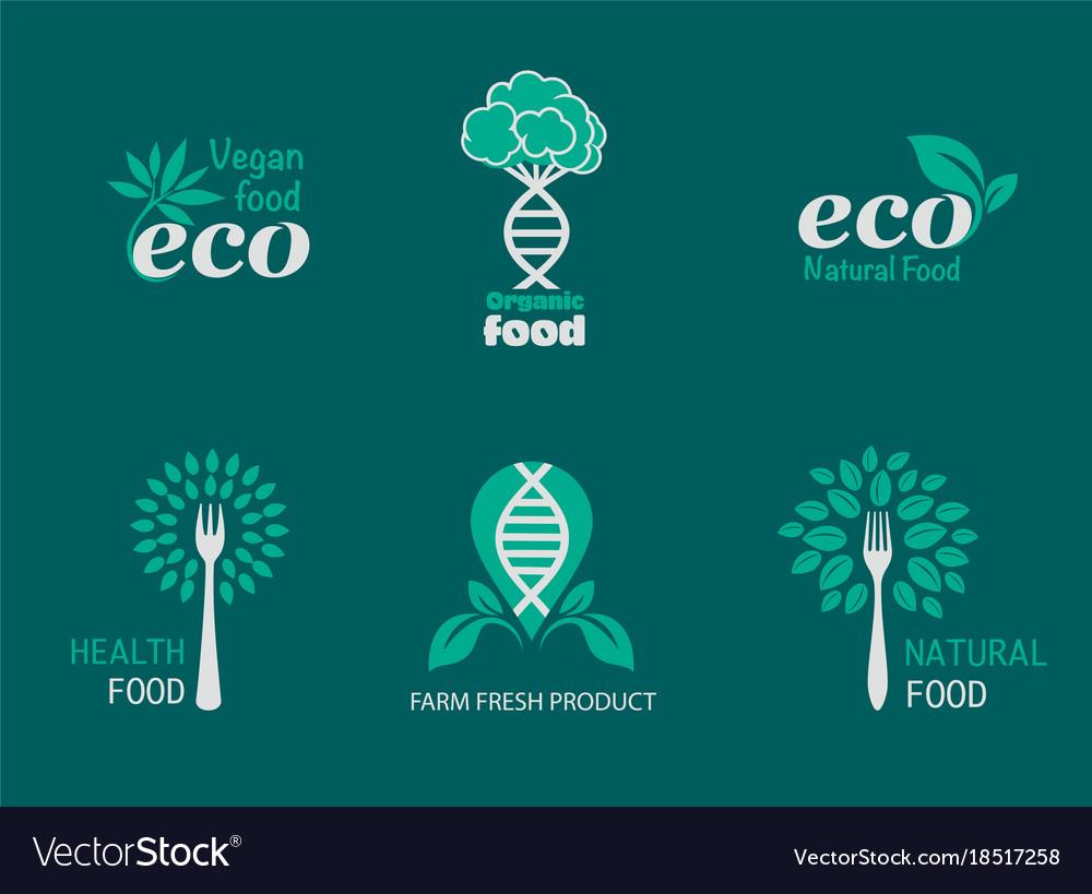 Eco food icons