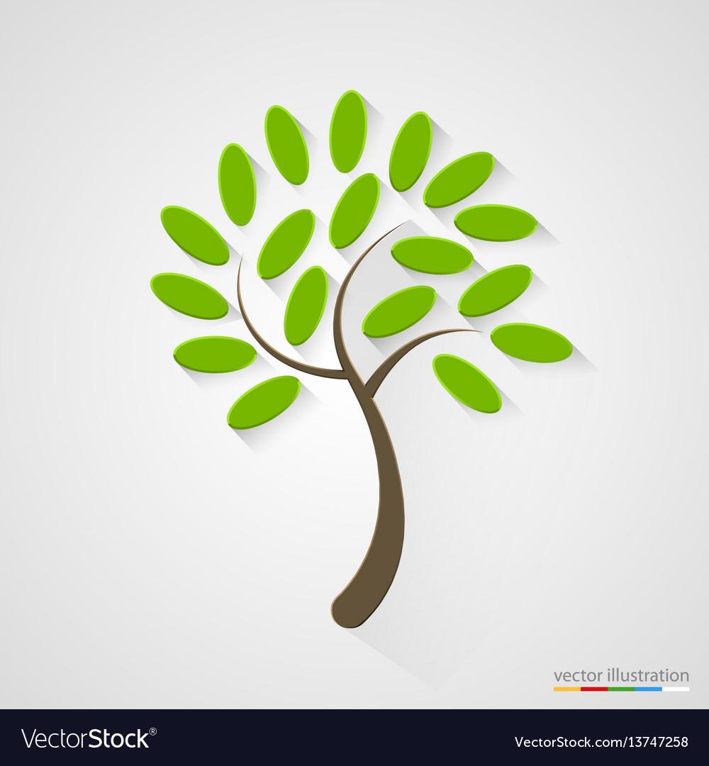 Elegant tree silhouette nature concept