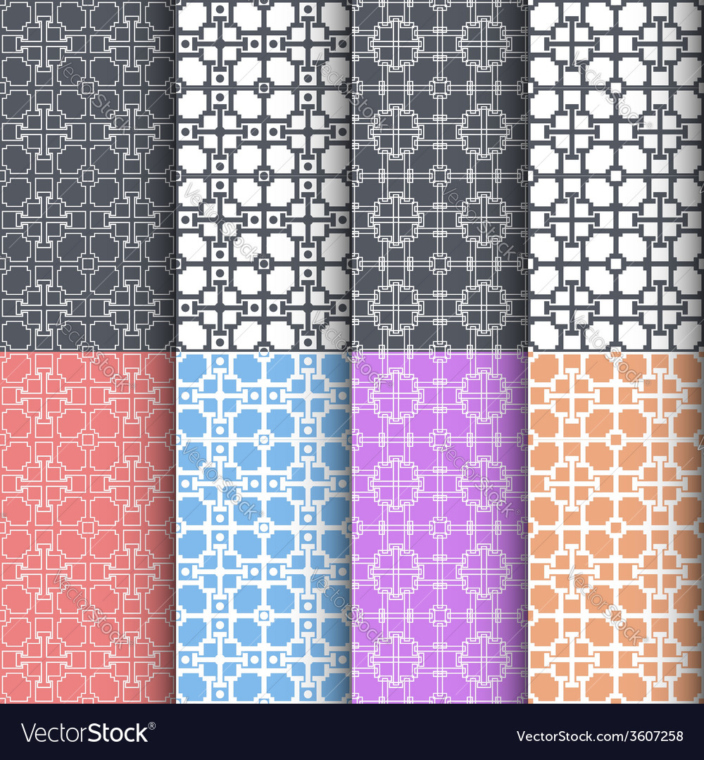 Geometric seamless patterns Abstract background