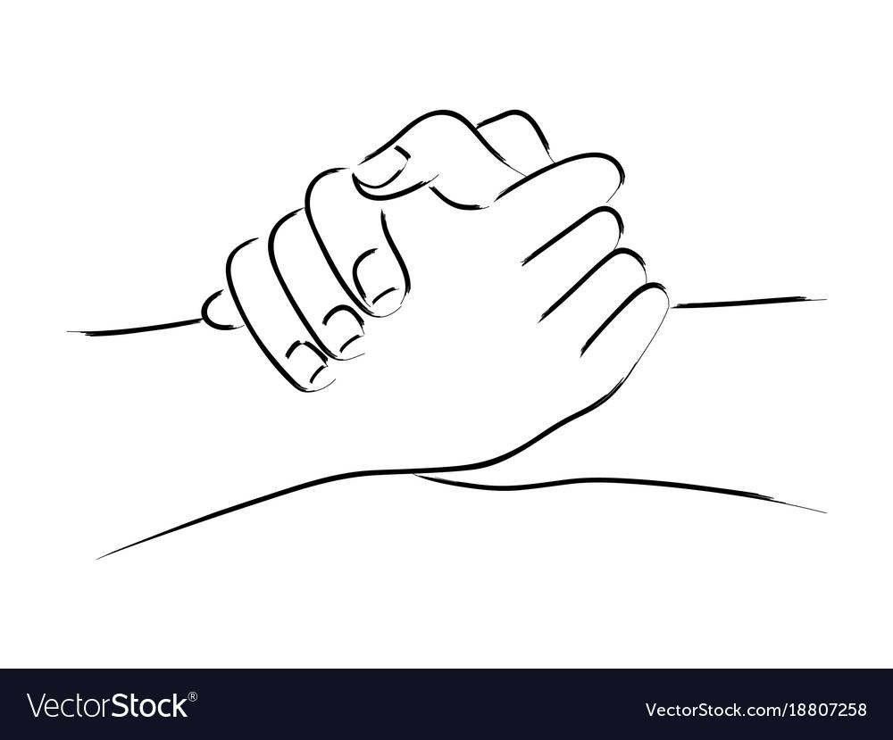 Hand gesturing friendship