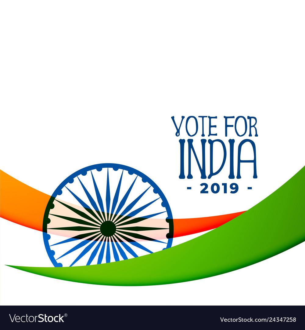 Indian 2019 election background design