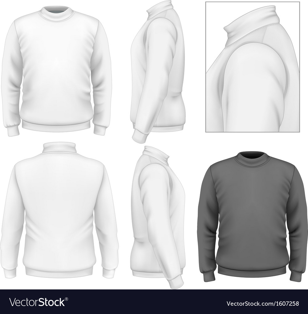 Mens sweater design template