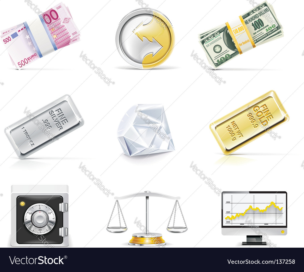 Online banking icon set