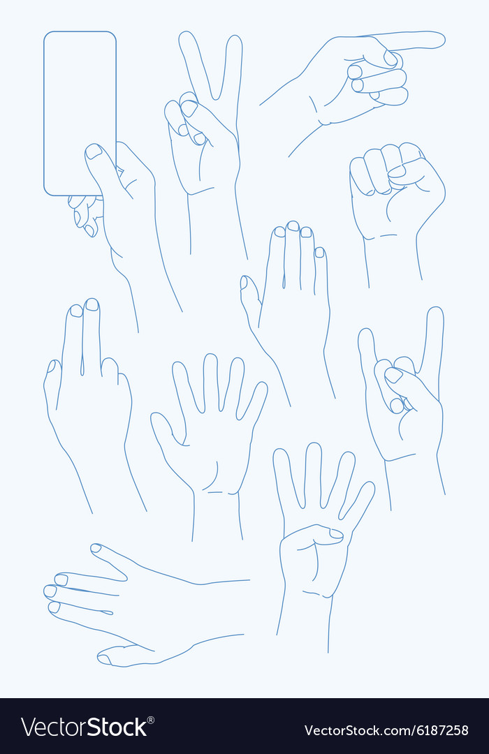 Set Hands Icons
