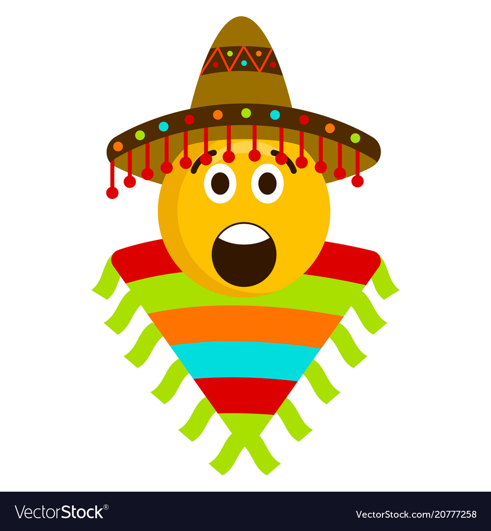 Surprised emoji with a mexican hat