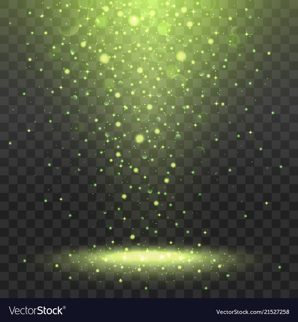 Yellow spotlights on transparent background