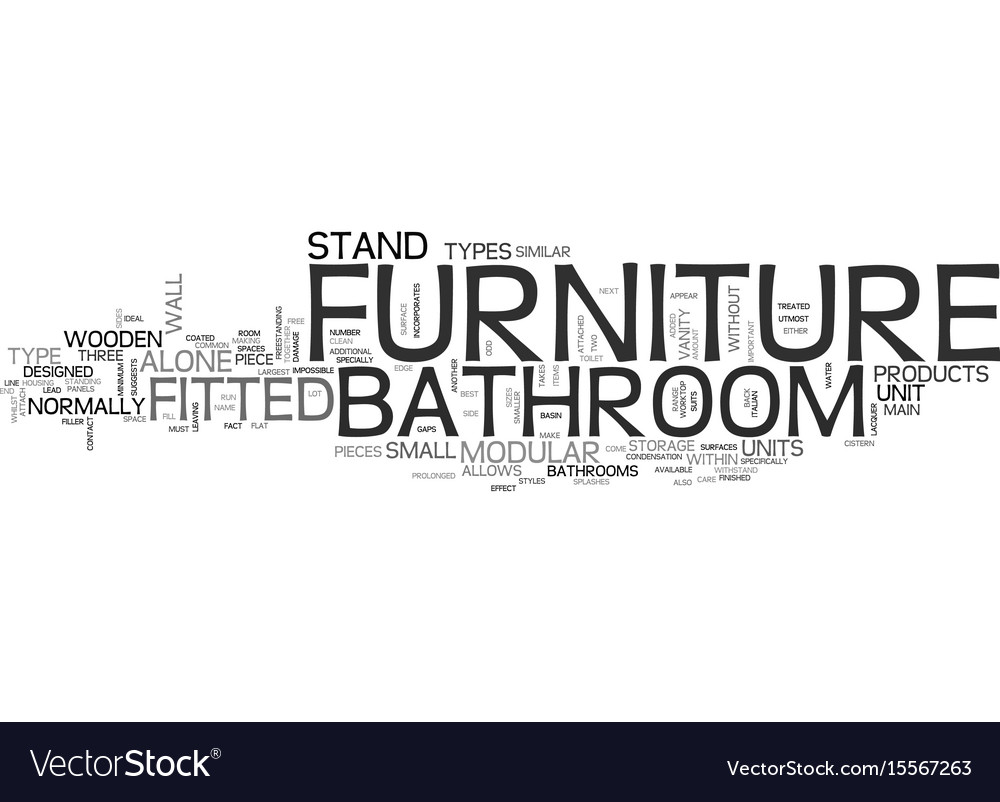 A To Z For Bathroom Furniture Text Word Cloud