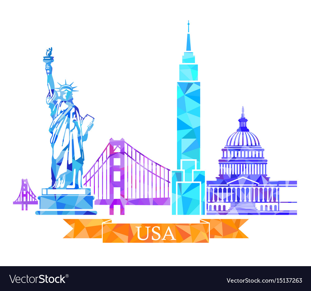 Attractions of the united states in polygonal