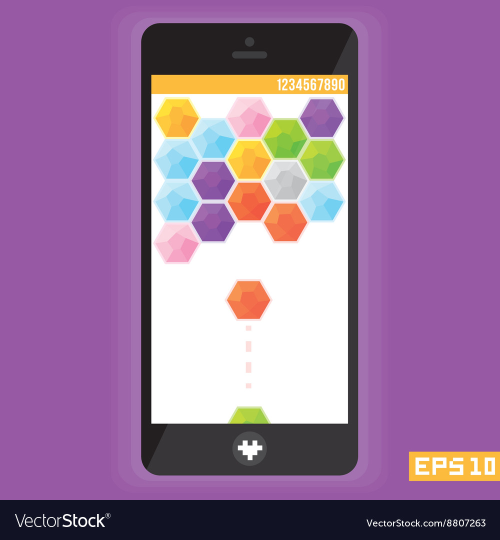 Diamond puzzle game asset for mobile devices