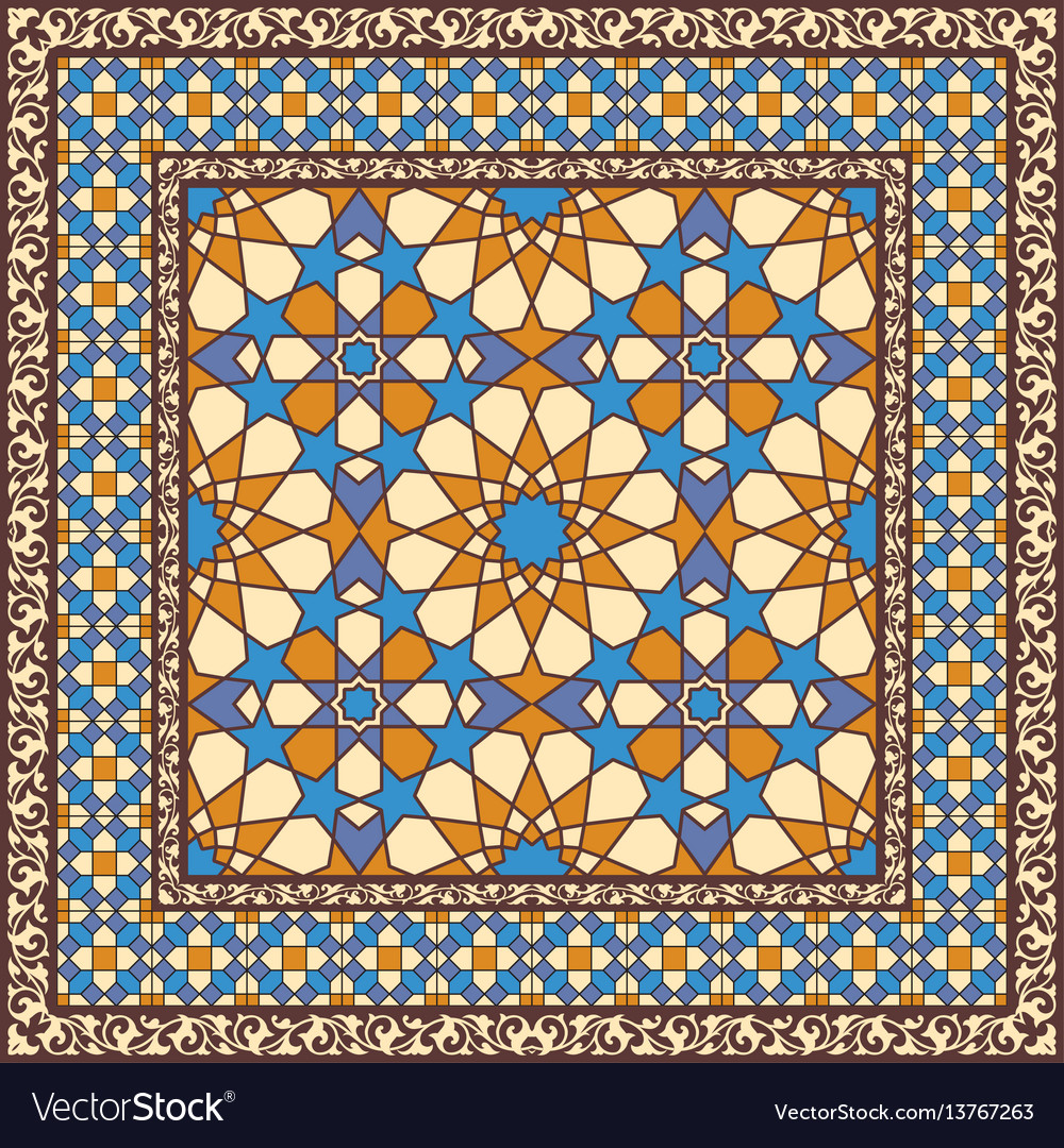 Ornamental pattern in arabic style vector image