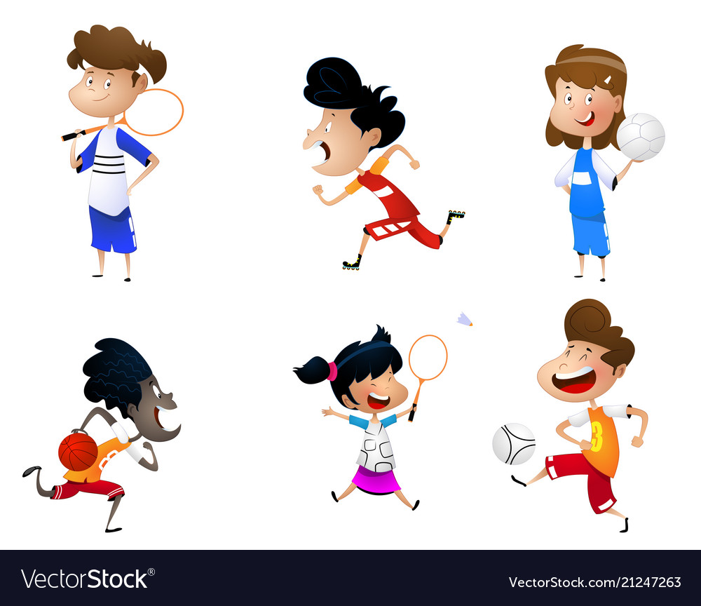 Sport for kids including football badminton