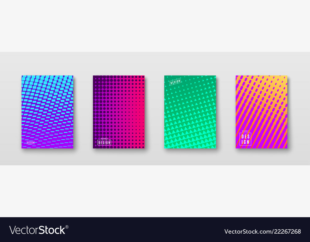 Abstract background with color elements halftone