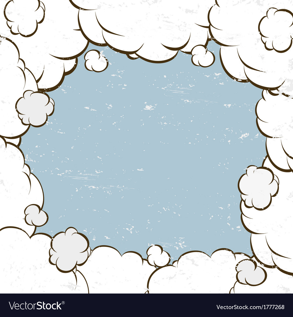 Clouds backgrounds vector image