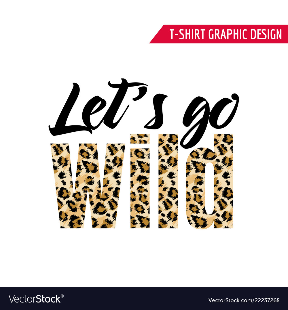 Fashionable tshirt design with leopard pattern