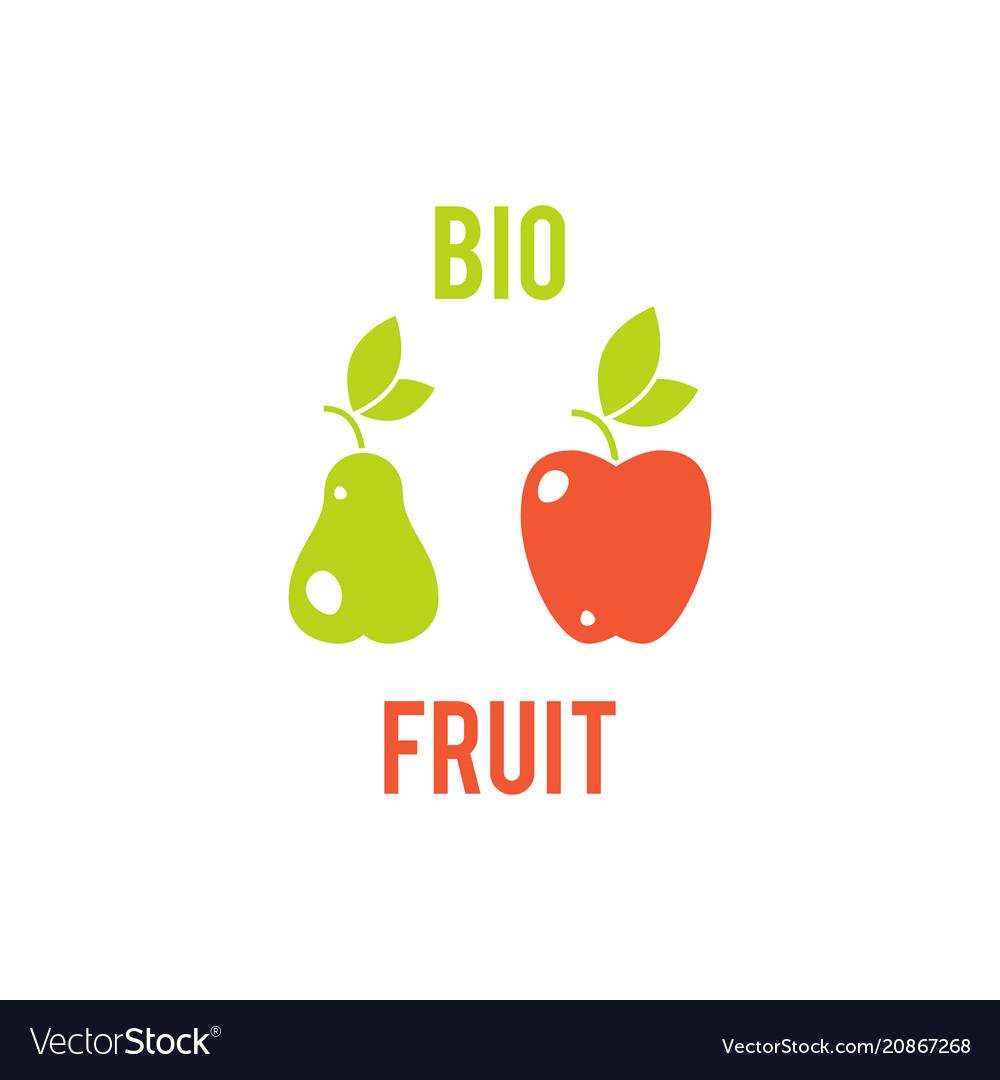 Fruit apple and pear vegetarian food symbol