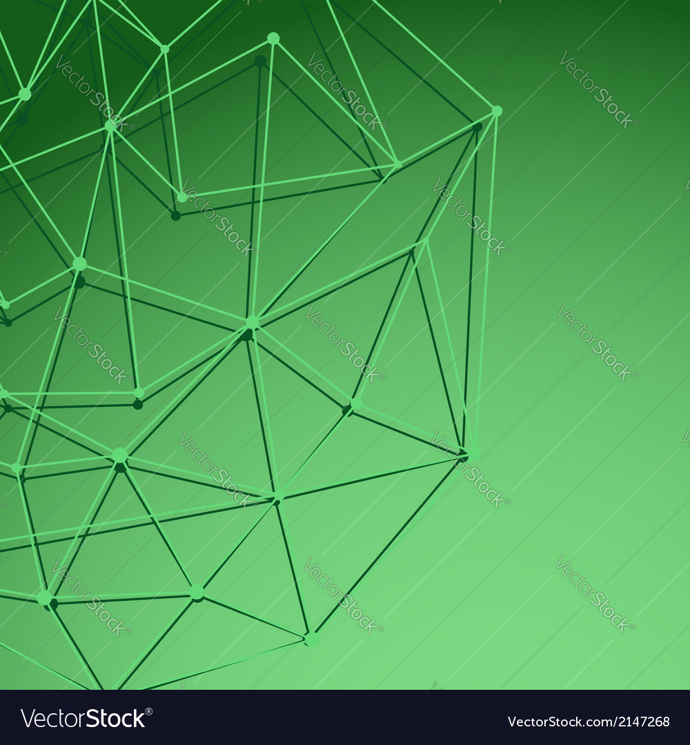Green cell background with shadow vector image