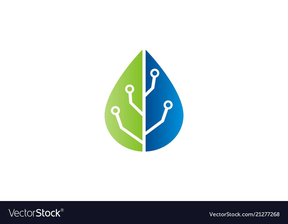 Green leaf technology logo