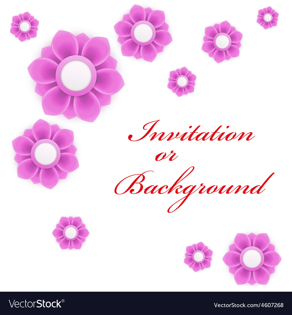 Greeting Card Or Background With Light Pink Flower