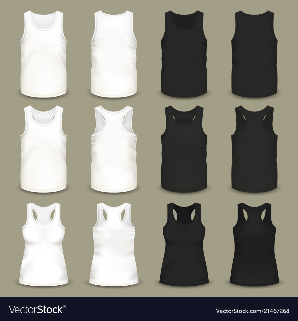 Male and female blank slim-fitting t-shirts