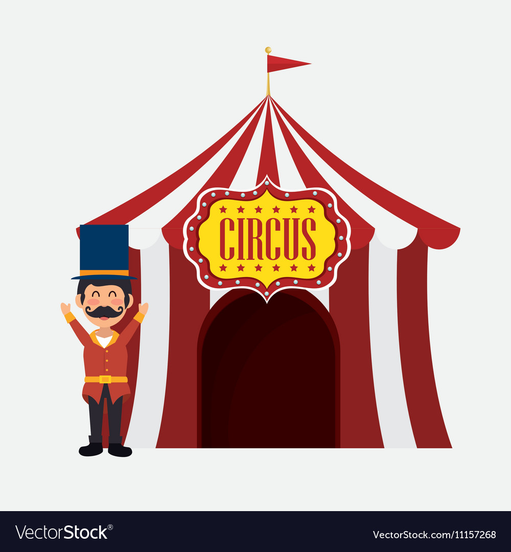 Welcome host tent circus design vector image