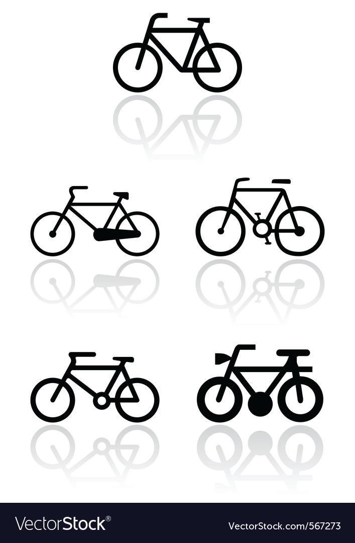 Bike symbol set vector image