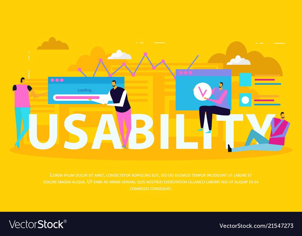 Interface usability flat background