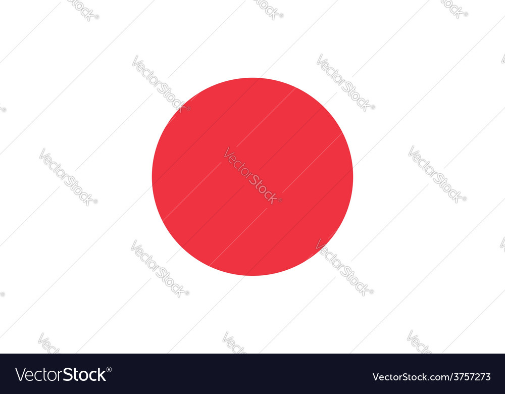 Japan Flag Original proportions and oficial