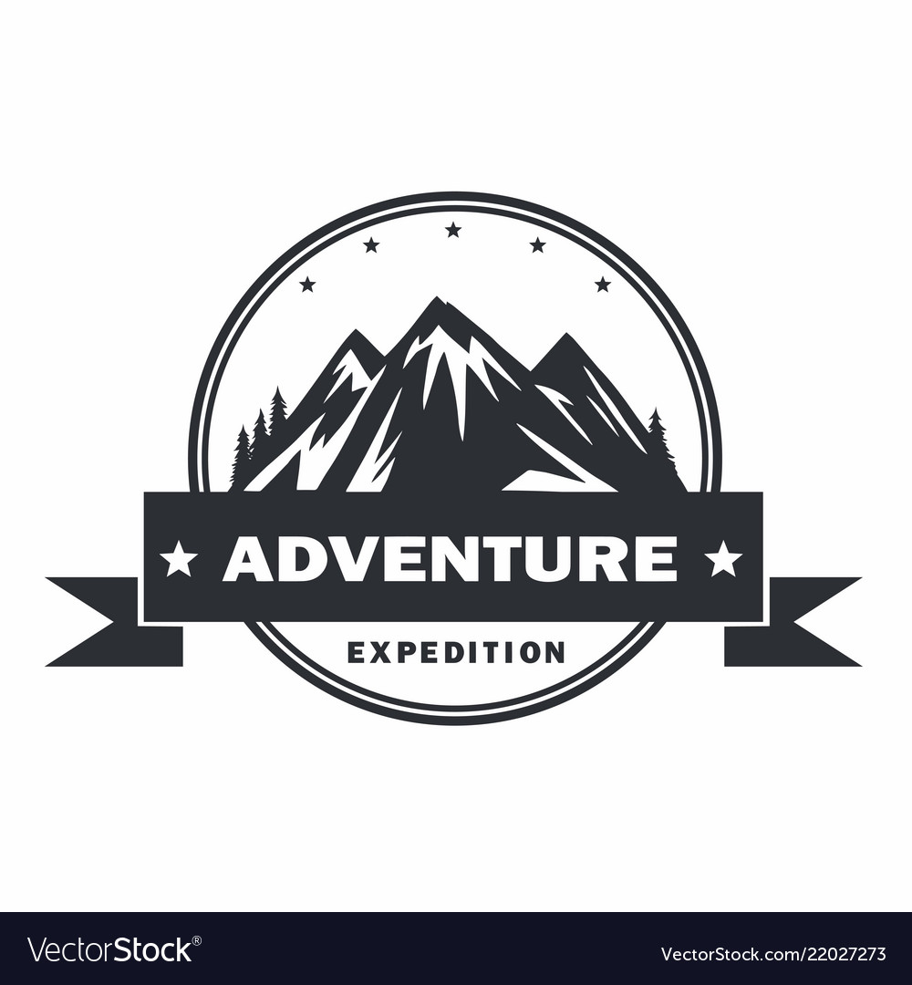 Mountain adventure logo design template