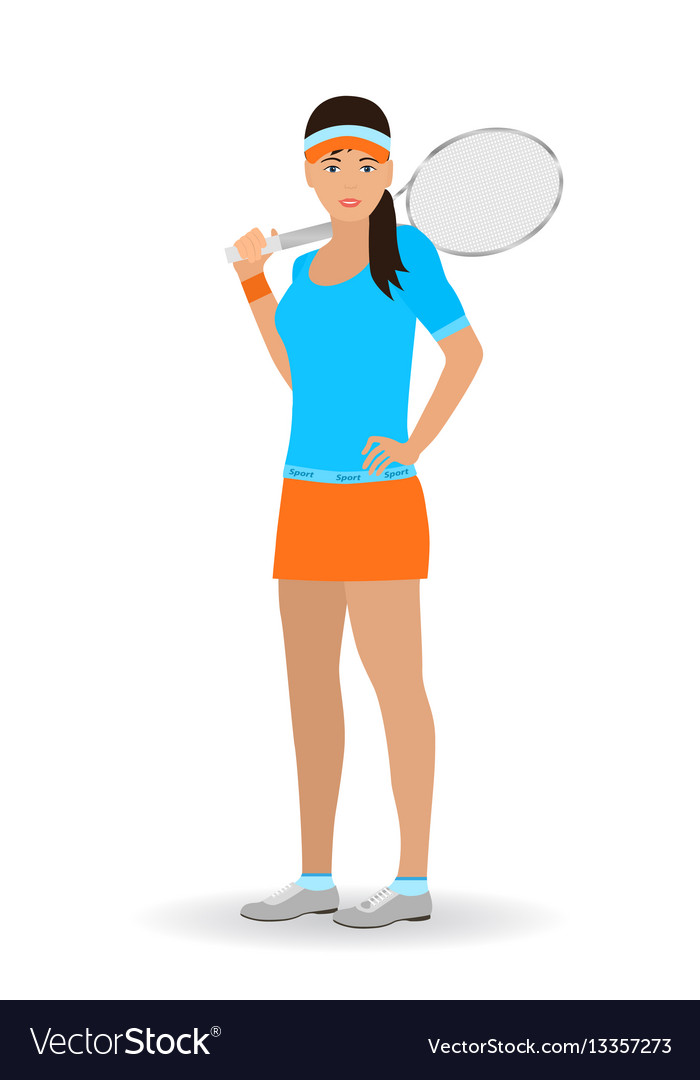 Sport people concept tennis woman with racket