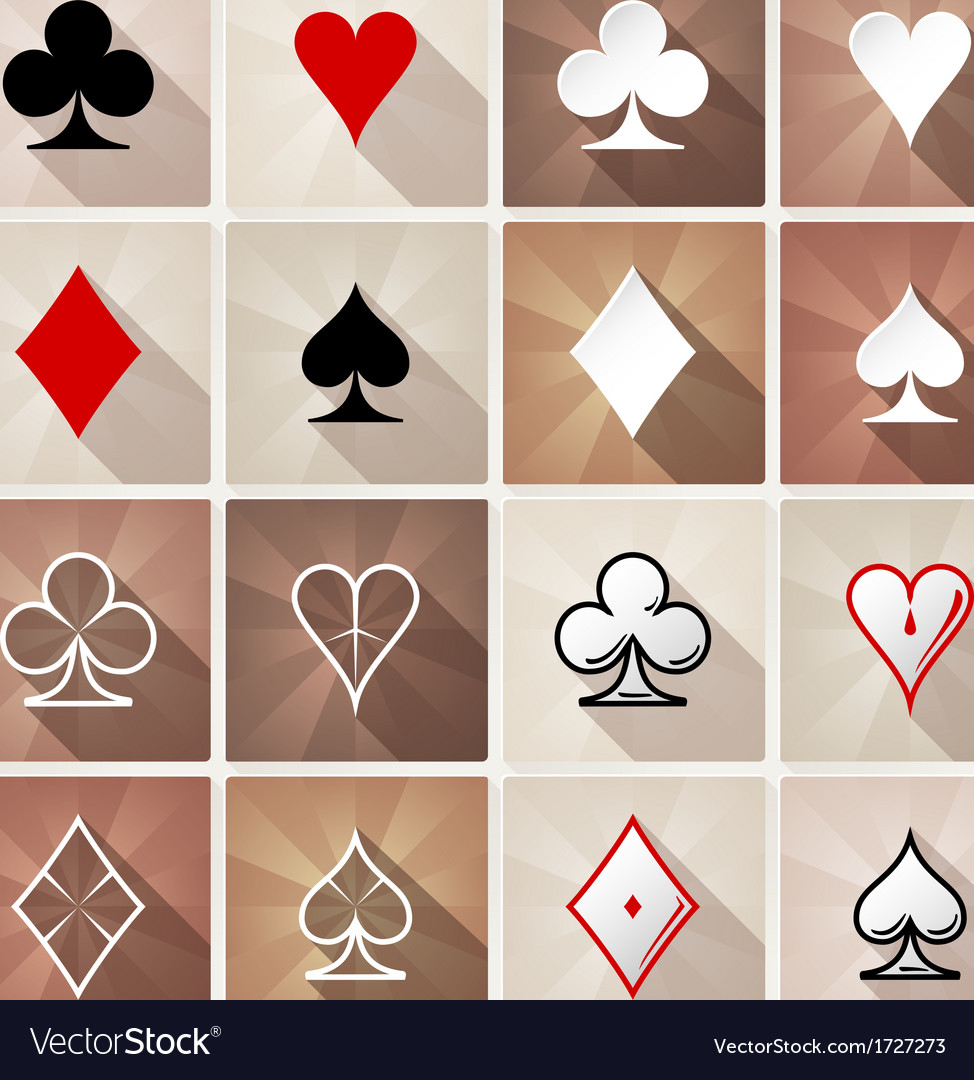 Stylish card suit icons vector image