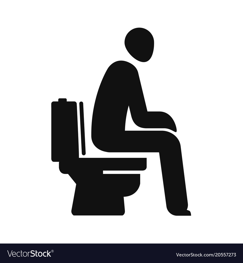 wc funny symbol man sitting on toilet royalty free vector  vectorstock