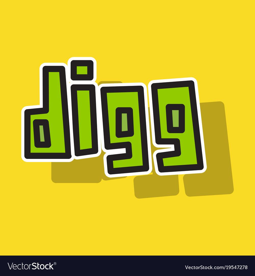 Sticker unusual look web icon of modern social vector image