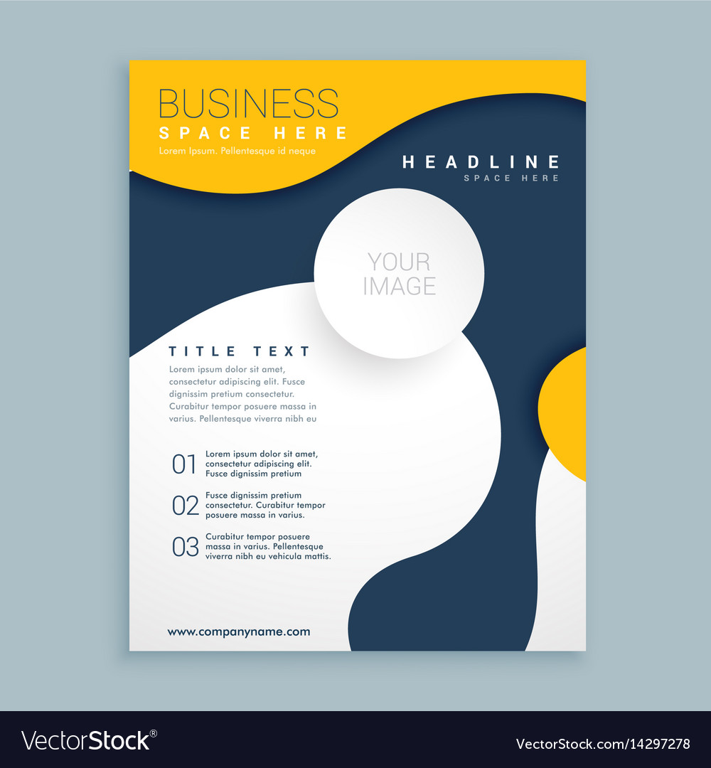 yellow cover brochure flyer design poster leaflet vector image