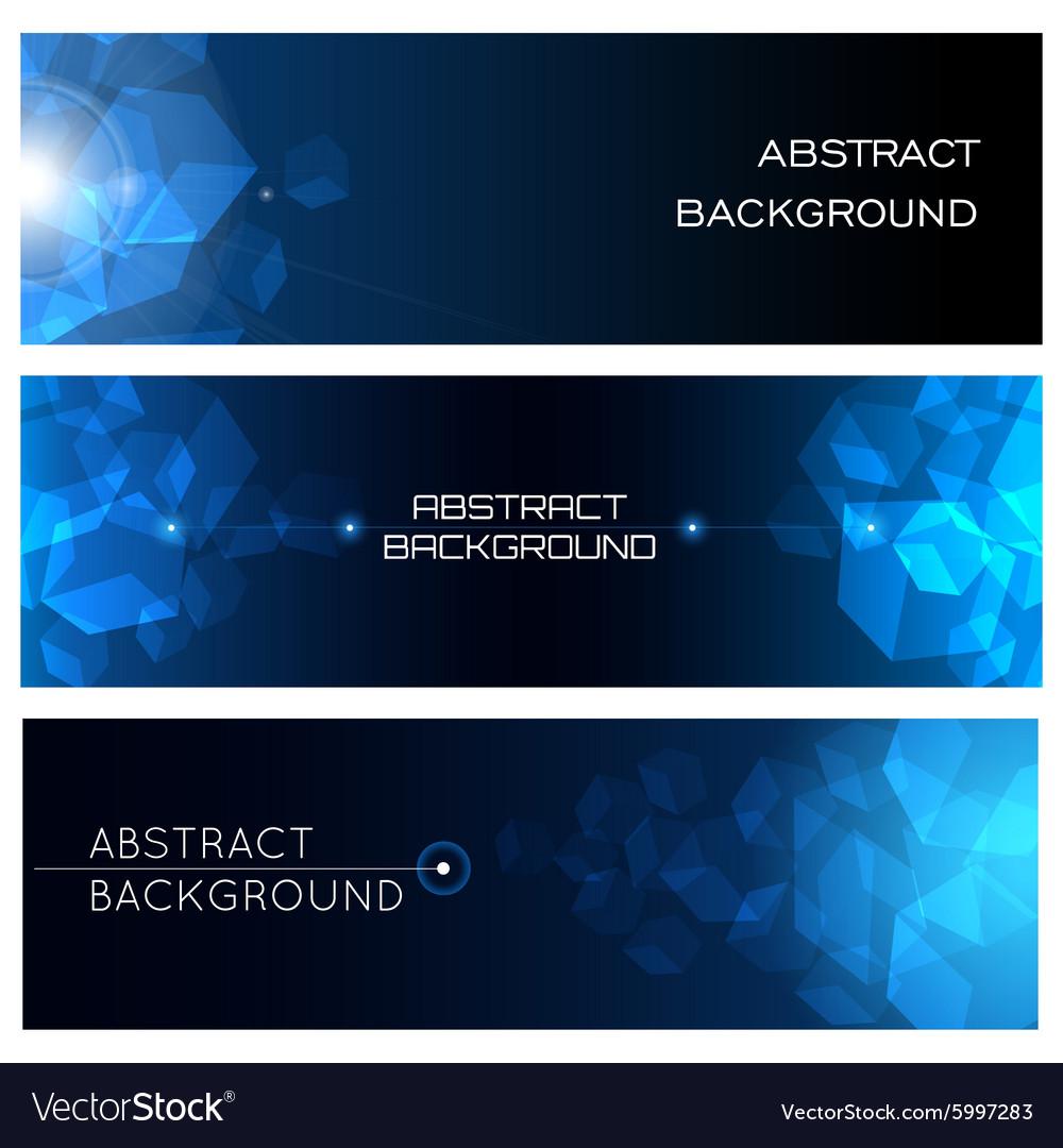 Abstract Horizontal Background Set
