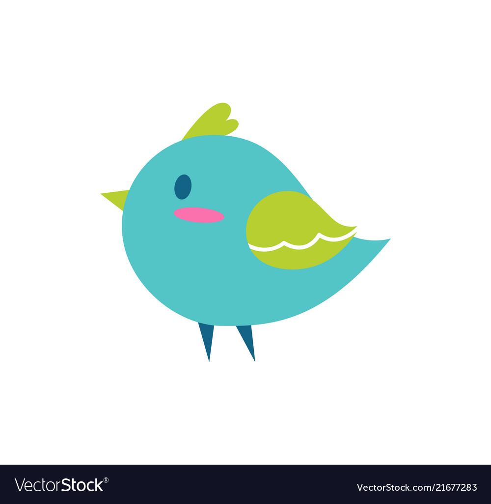 Bird blue color small