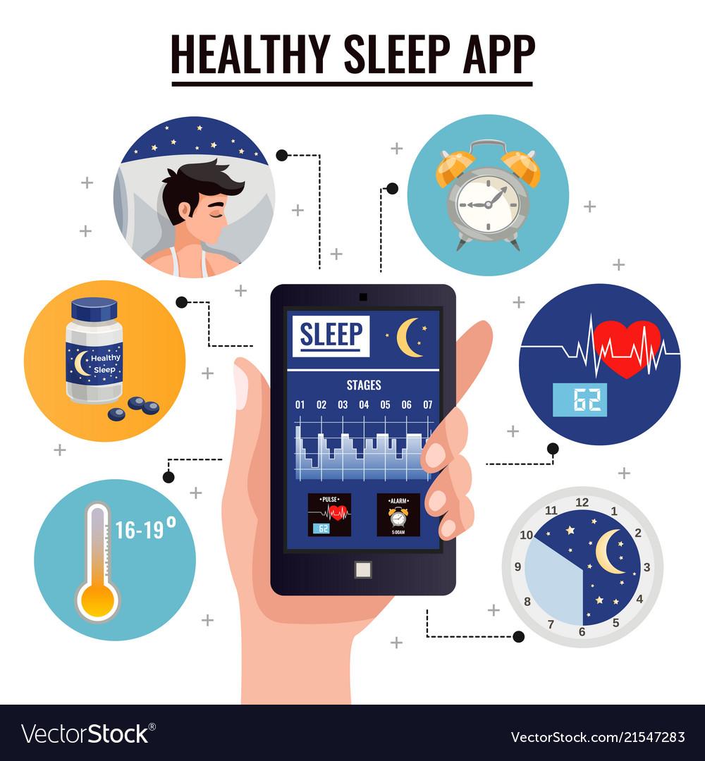Healthy sleep app design concept
