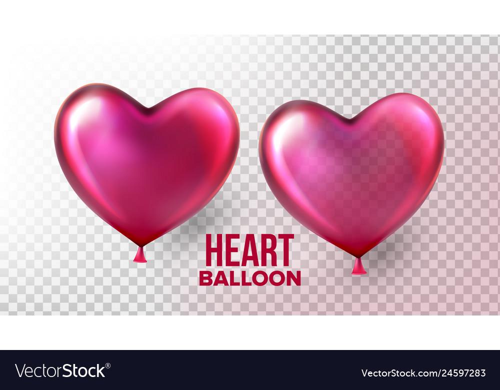 Heart balloon transparent 3d realistic air