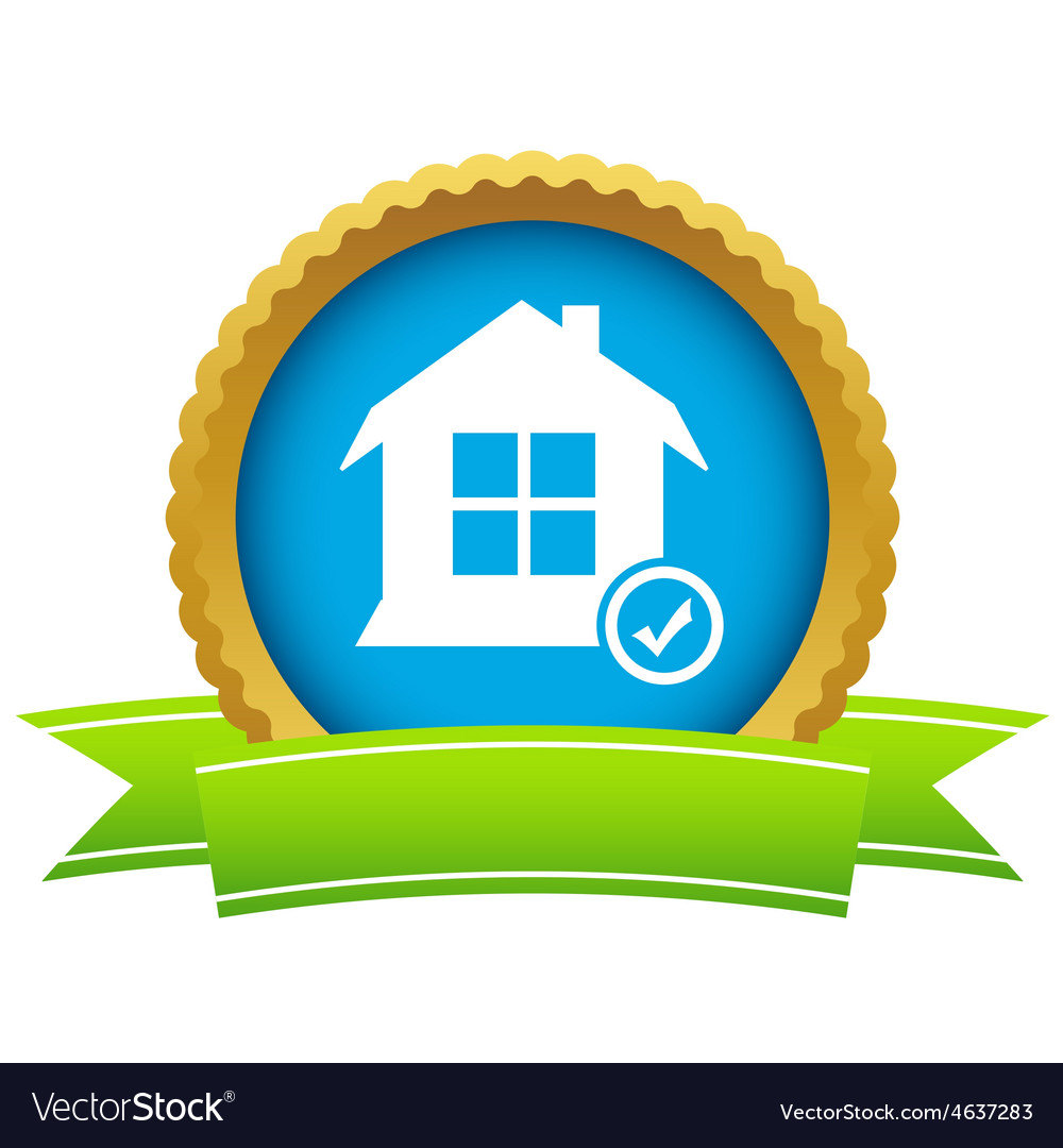 House with tick mark icon